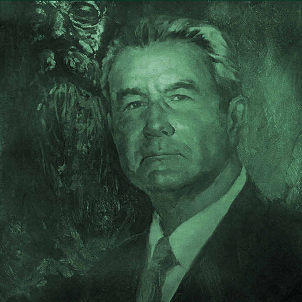 A portrait of Don Francisco Javier Sauza, the third generation of the Sauza family and creator of Tres Generaciones tequila.