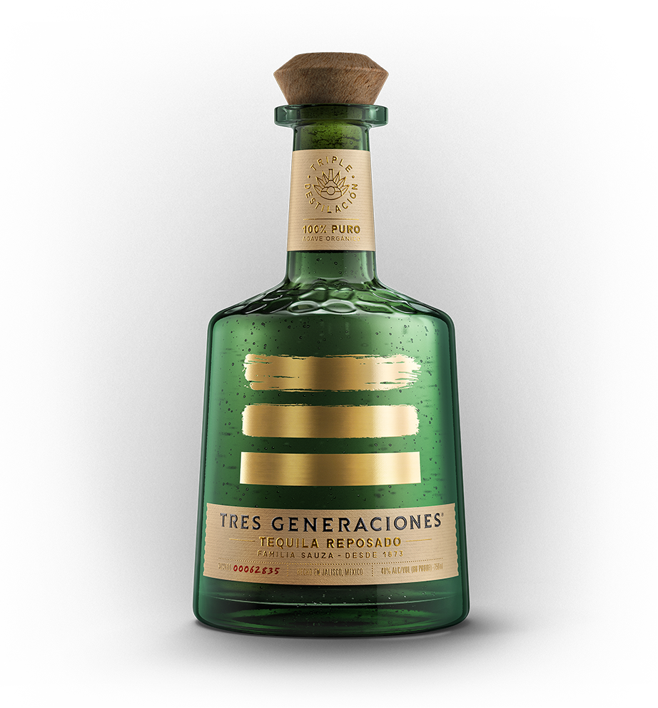 A bottle of Tres Generaciones' triple distilled Reposado Tequila.