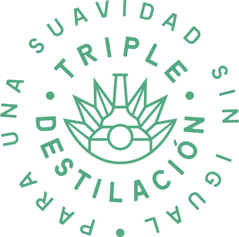 Triple distilled tequila symbol for Tres Generaciones.
